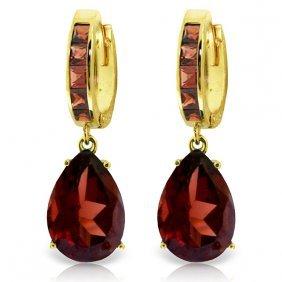 Genuine 13.2 Ctw Garnet Earrings Jewelry 14kt Yellow