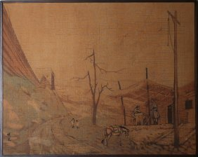 Vintage Batik Painting