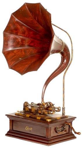 480 Phonograph Quot Edison Idelia Quot With Quot Cygnet Quot Horn Lot 480