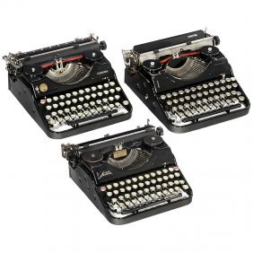 3 Rarer Portable Typewriters