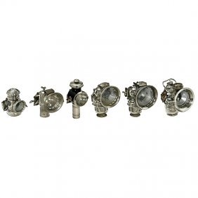 6 Bicycle Lamps, C. 1920