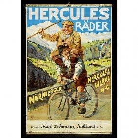 "Bicycle Advertising Poster ""Hercules R�der"", C. 19"