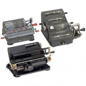 3 Spokewheel Calculating Machines