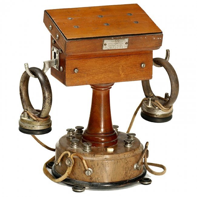 43 Early Quot Ader Quot Table Telephone France C 1880 Lot 43