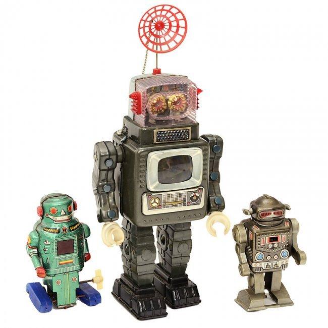 Japanese Tin Toy Robots : Japanese tin toy robots c lot