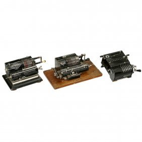 3 Spokewheel Calculating Machines