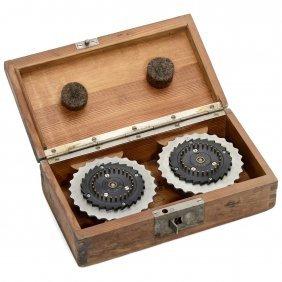 2 Original Enigma Wheels In Wooden Box, 1936