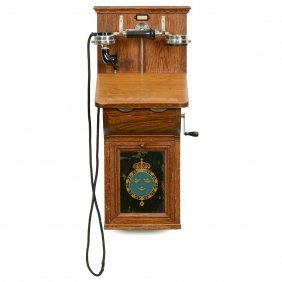Swedish Wall Telephone Type Ac 150, C. 1920