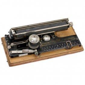 """""""picht"""" German Index Typewriter, 1907"""