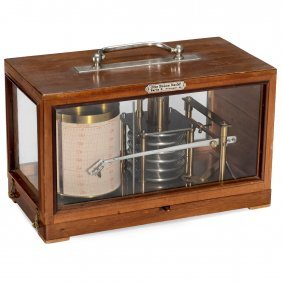 German Aneroid Barograph By Otto Bohne, Berlin, C. 1925