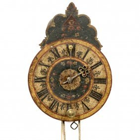 Southern German Iron Clock With Alarm, C. 1750
