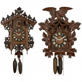 2 Black Forest Cuckoo Clocks, C. 1900
