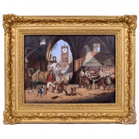 Automaton Clock Picture Of A Blacksmith's Shop By