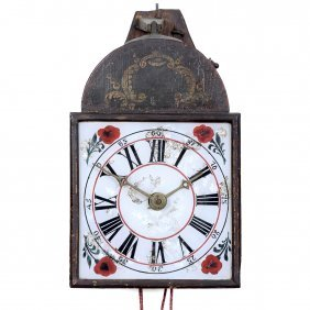 Black Forest Wooden Wheel Clock, C. 1800