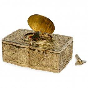Silver-gilt Singing Bird Box Automaton By Karl