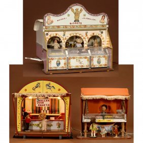 Models Of Ball-toss Stand, Fish Parlor And Fairground