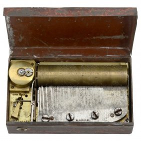 Overture Musical Snuff Box By Frères Nicole, C. 1835