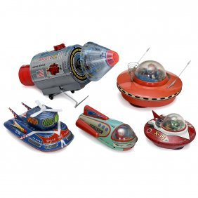 5 Japanese Space Toys, 1970 Onwards