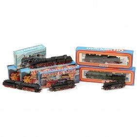6 Märklin Steam Locomotives, Gauge H0, C. 1985