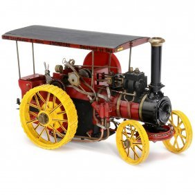 Live Steam Traction Engine 1:10 Scale Model, C. 1975