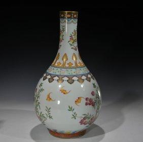 Chinese Famile Rose Vase