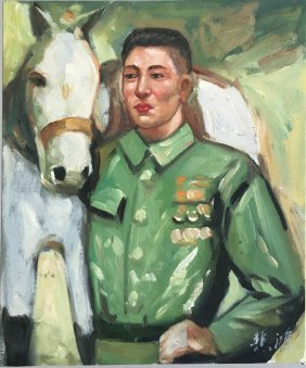 Xu Beihong(1895-1953), Soldier With Hourse