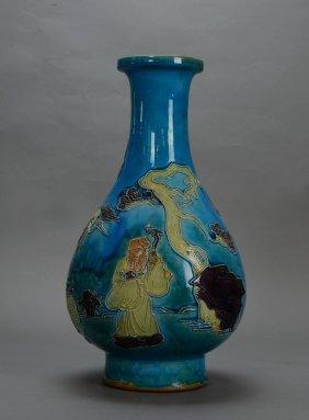 A Enamel Porcelian Vase