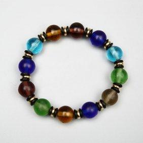 Chinese Glass Prayer Beads