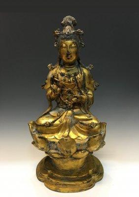 Gilt Figure Of Guanyin