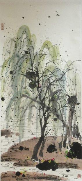 Wu Guanzhong (1919-2010), Spring Willow