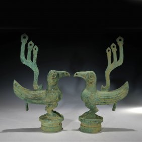 A Pair Of Chinese Fung Figure