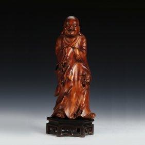 Chinese Boxwood Buddha