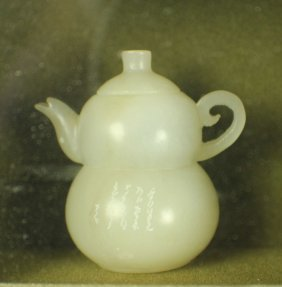 A Shou-shan Stone Small Teapots In Different Styles