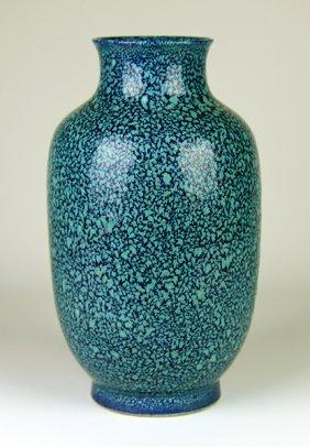 Robin's Glazed Vase In Lantern Shape,yong Zheng