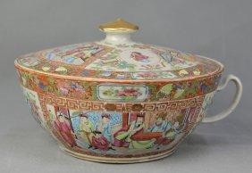 A Gild Famille Rose Porcelain Tureen Of Figure Pattern,