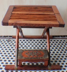 A Pair Of Hai Nan Huanghuali Folding Stools From King's