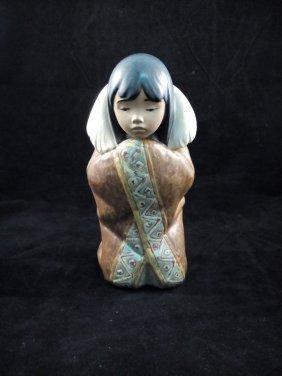 Lladro Arctic Winter Porcelain Figurine, Eskimo