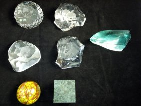 Galway, Val St. Lambert, And Other Paperweights