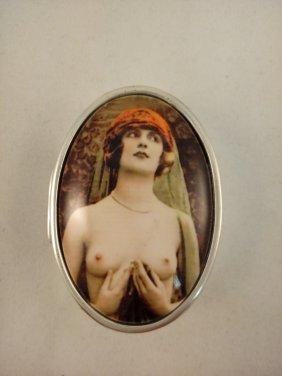 Erotica Sterling Silver Pill Box