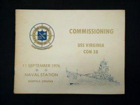 Uss Virginia Cgn 38 Commissioning Program