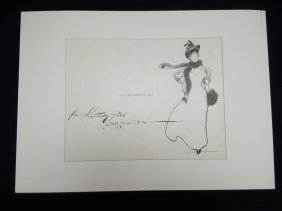 Gibson Girl Pen And Ink Drawing