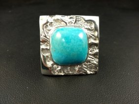 Sterling Ring With Turquoise