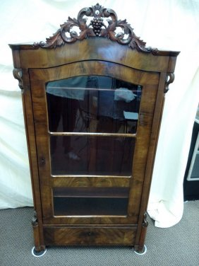 Vintage German Walnut Cabinet