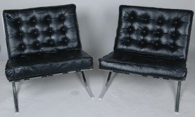 PAIR OF BARCELONA CHAIRS,