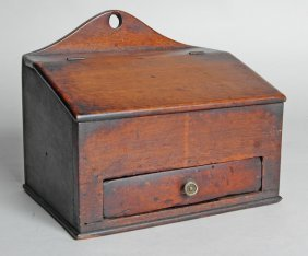 EARLY 19TH C. WALNUT CANDLEBOX