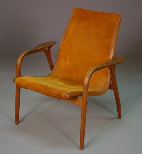2059 Yngve Ekstrom Swedese lamino small lounge chair Lot 2059