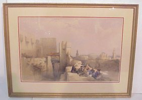 19thc David Roberts Citadel Of Jerusalem  Lithogr