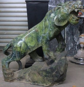 Jade Tiger - Solid Jade Sculpture