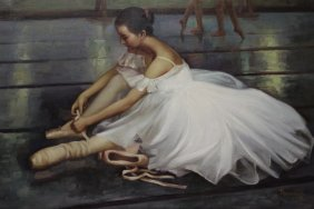 Ballerina - Oil Painting By Thomas Herbsy