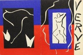 Revue Verve, Vol 1 Henri Matise 1937'